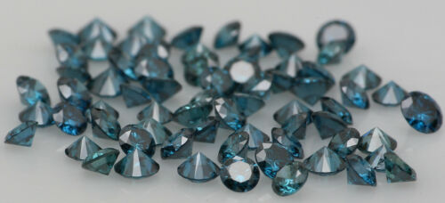 Natural Loose Diamonds Round Blue Color SI1 Clarity 1.55 to 2.05MM 15 Pcs Lot K5