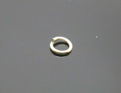 1 x 9ct yellow gold open jump rings 5mm o ring jewellery making ring repair