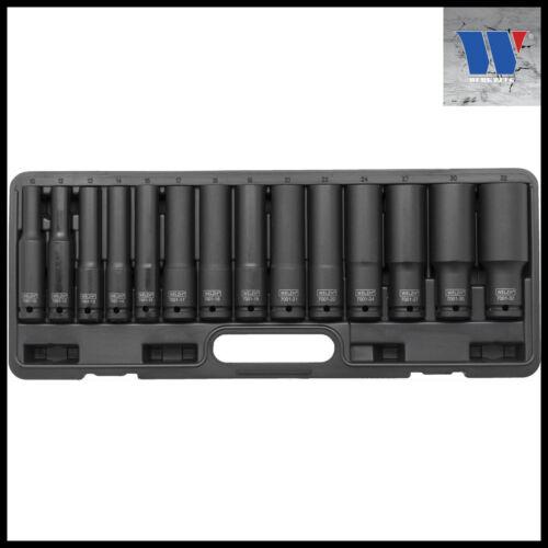 """7001 Werkzeug 1//2/"""" Drive Extra Long Impact Socket Set 10-32 mm 6 Pt"""