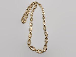 Gold-Tone-Interlocking-Link-Necklace-37-034