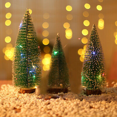 20 30cm Christmas Tree Artificial Deluxe Warm White Lights With Led String Light Ebay