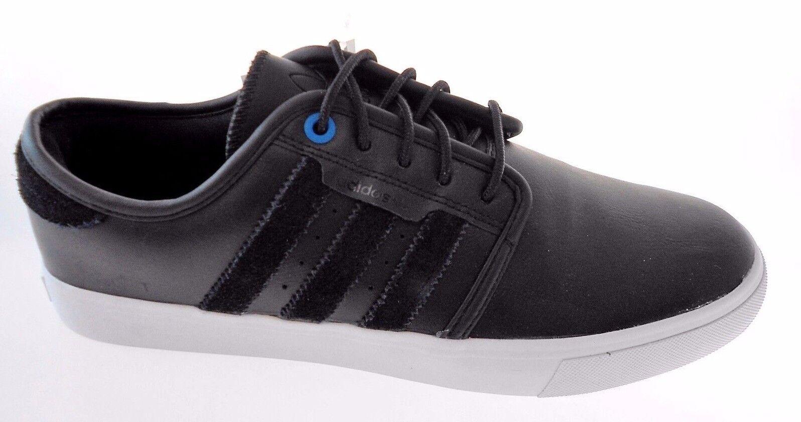 Adidas originals seeley männer schwarze leder skateboard - schuhe