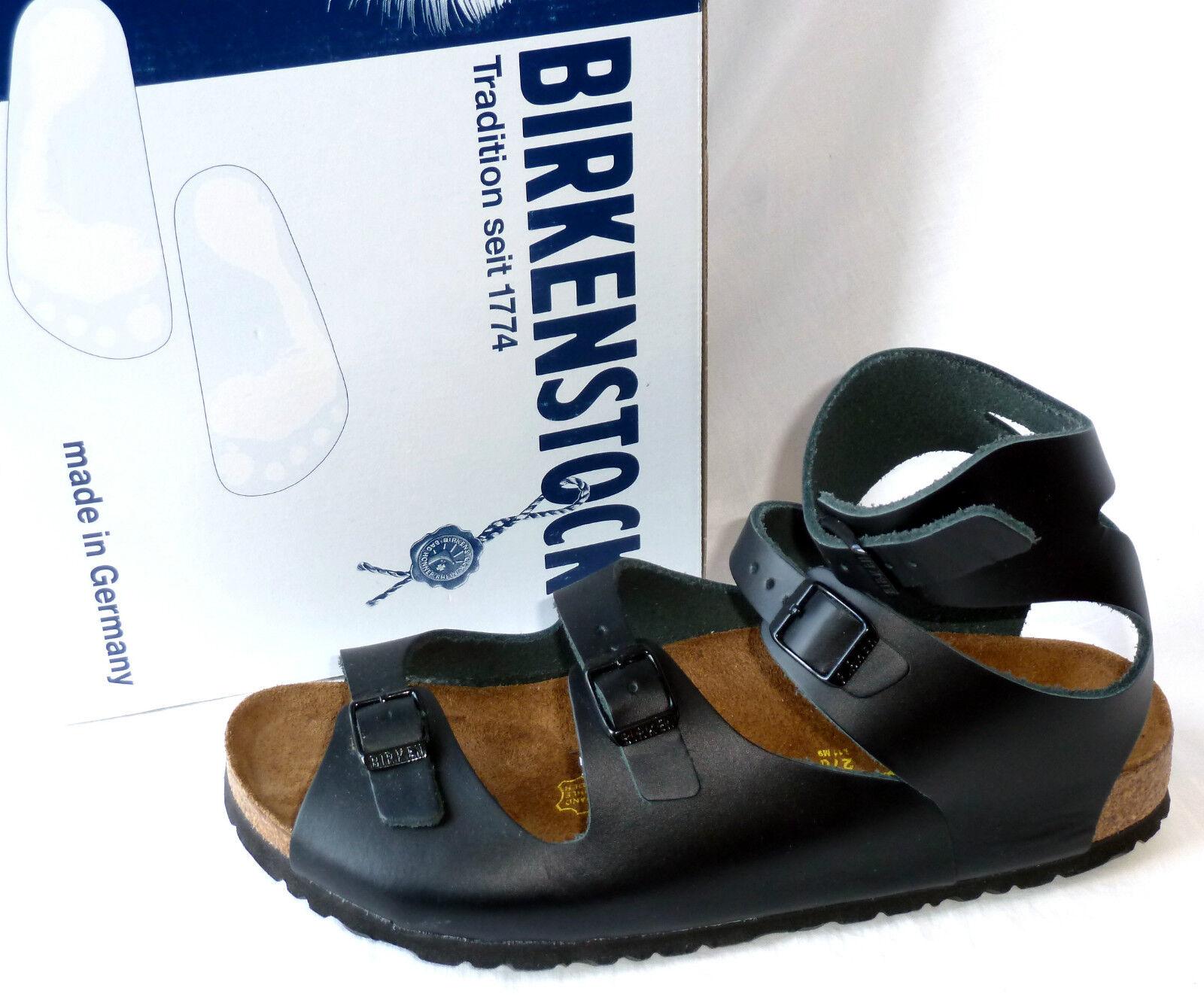 Birkenstock Unisex Leder Sandaleen ATHEN, Gr. 42, Leder, schwarz