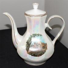 Vintage Bavaria Germany Porcelain Transferware Lusterware 7 12/'h Coffee Pot