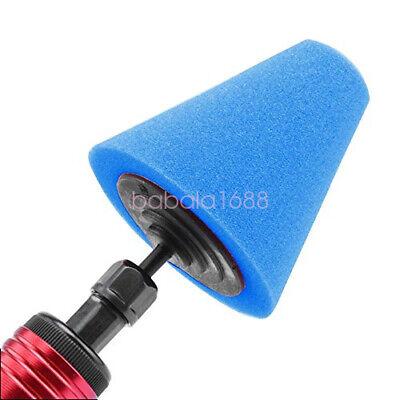 Blue Cone Shaped Polishing Sponge Tool For Car Automobile Wheel Hub Useful