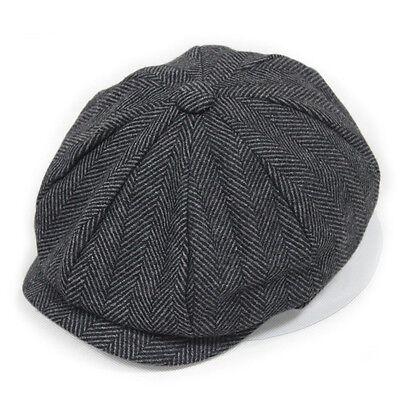Fashion Lately Winter Warm Mans Hat Flat Octagonal Newsboy Cap Beret Handsome