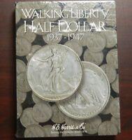 2694 Walking Liberty Half Dollar Coin Album 1937-1947 Collectible Folder Harris