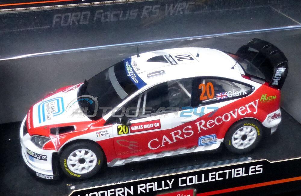 FORD FOCUS RS WRC07 del Galles Rally Gb 2008 1:18 Modellino  20 B.CLARK / P.