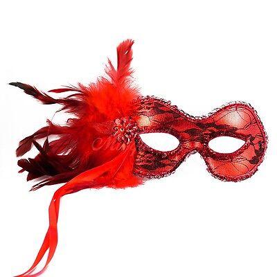 1920s The Great Gatsby Veneziano Masquerade Maschera Per Donne J-6936 [rosso ] Ultima Moda