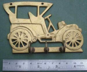 Brass-Key-Holder-Free-P-amp-P-house-car-keys-safe-vintage-old-hook-hooks