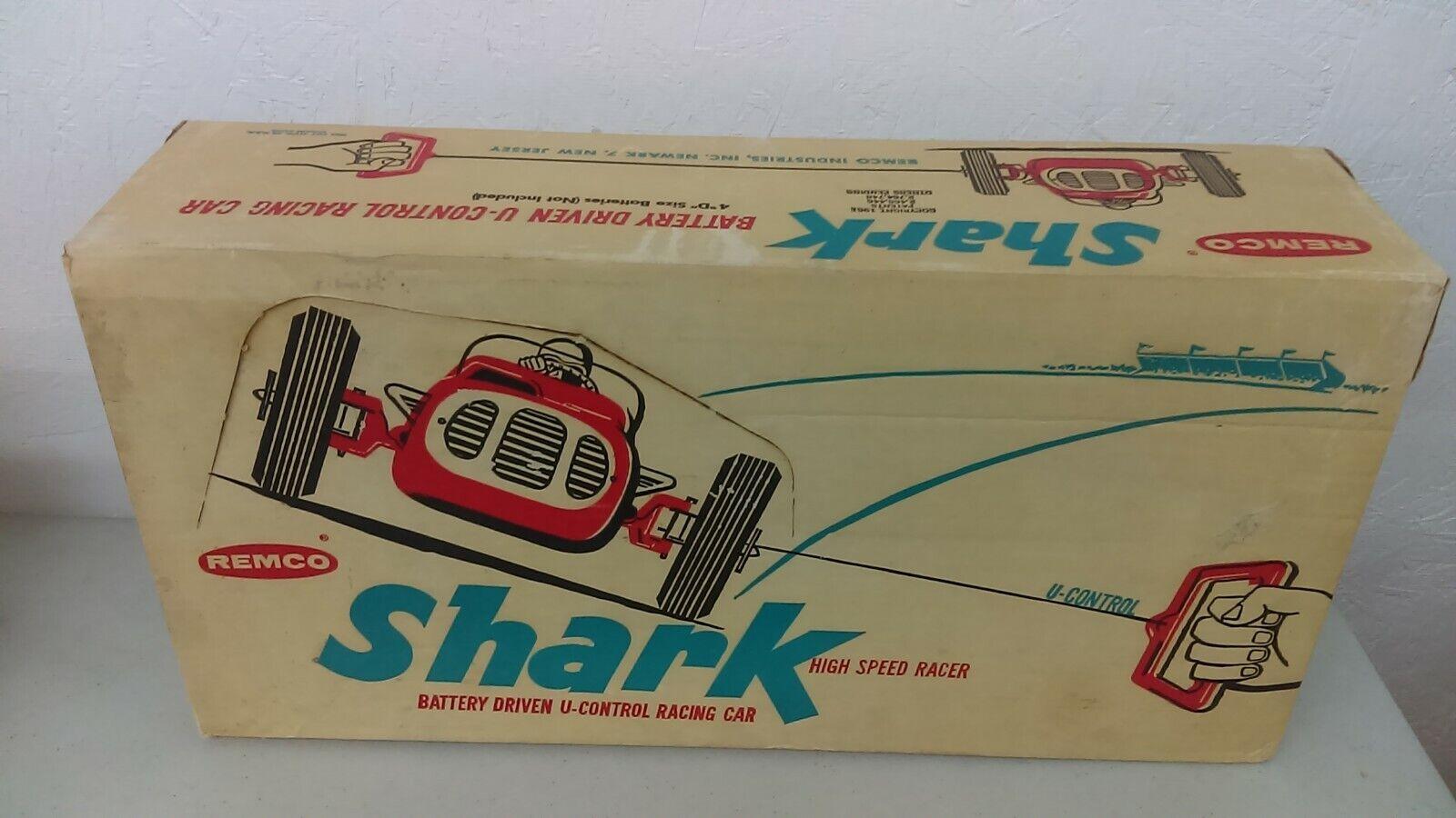1961 Remco Shark de alta velocidad Racer Con Pilas Menta en caja nunca quitado de la caja nuevo viejo stock nunca usado