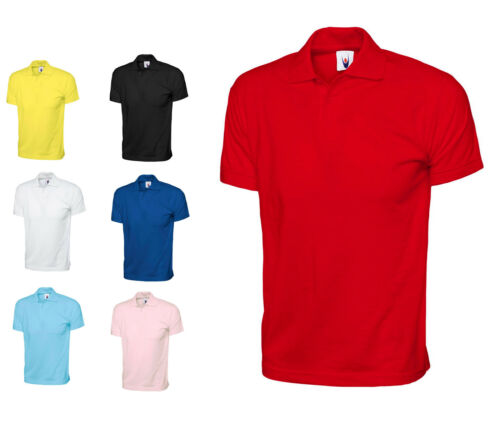 SPORTS WORK 122 Mens 100/% Cotton Jersey Pique Polo T Shirts Size XS to 3XL