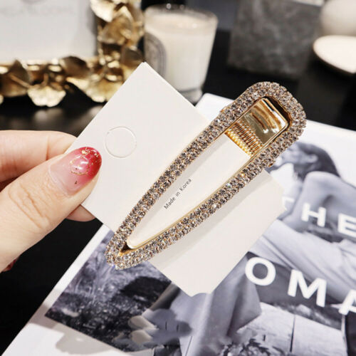 USA Women Pearl Hair Clip Snap Barrette Stick Hairpin Bobby Hair Accessories Lot