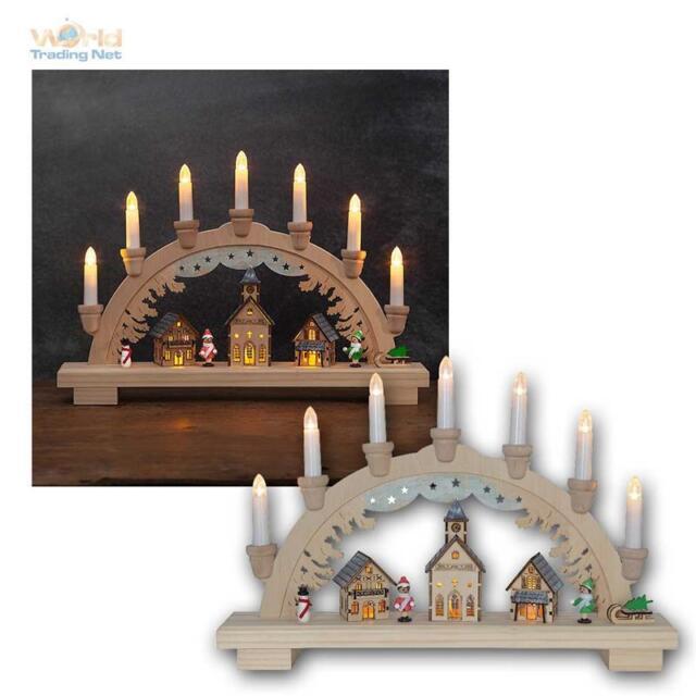 Weihnachtsbeleuchtung Lichterbogen.Led Schwibbogen Dassel Weihnachtsbeleuchtung Holz