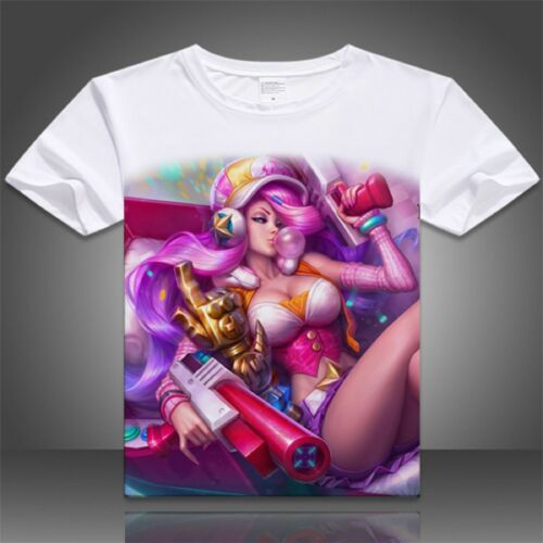 LOL League of Legends Miss Fortune Video Game T-shirt Tee Top Cosplay Costume