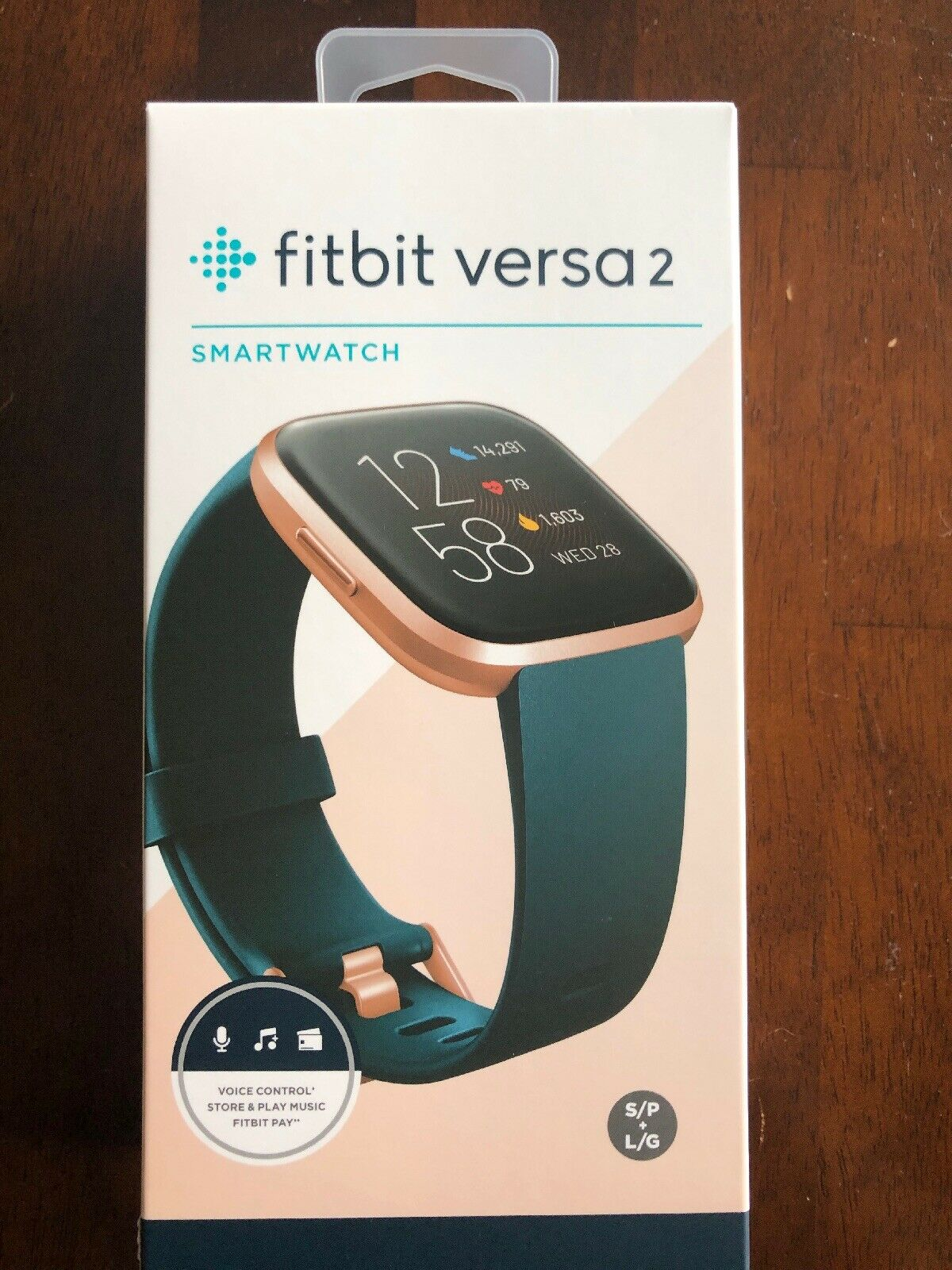 Fitbit Versa 2 Health And Fitness Smart  Watch, Emerald/copper Rose Aluminum NEW 1