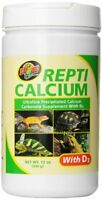 Zoo Med Reptile Calcium With Vitamin D3, 12-ounce , New, Free Shipping on sale