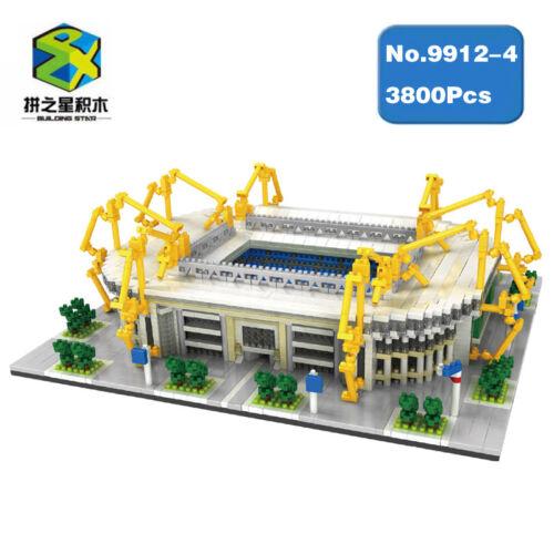 Microblock Dortmund FußballPark Stadion Blöcke Gebäude Modell Blöcke 3800PCS
