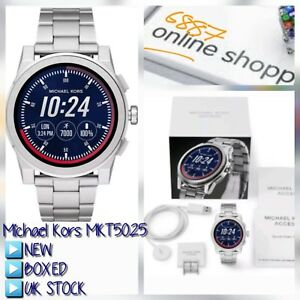 770f8a0fa40a Image is loading MICHAEL-KORS-MKT5025-Access-Grayson-Silver-Smartwatch-NEW-