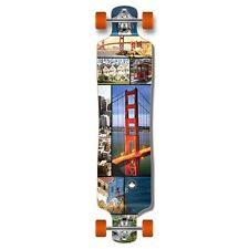 San Francisco graphics Lowrider Drop down through Longboard Complete skateboard
