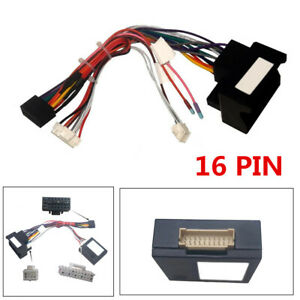 for bmw e46/e53/e39 wiring harness connector radio 16pin power cable  adapter new | ebay  ebay