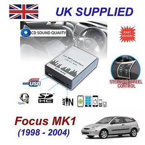 para-Ford-FOCUS-MK1-MP3-SD-USB-CD-Entrada-AUX-Adaptador-De-Audio-Cambiador-Cd