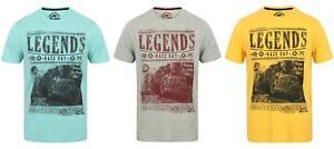Mens-Sth-Shore-Legends-Car-Print-Cotton-Crew-Neck-Short-Sleeve-T-shirt