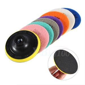 Diamond-Polishing-Pads-4-inch-Wet-Dry-Set-amp-Backer-Granite-Stone-Concrete-Marble