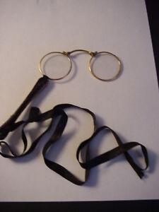 4a1e423c6dd Image is loading Antique-Faux-Turtoise-Shell-Lorgnette-Opera-Glasses-Folding -