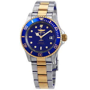 Invicta-Pro-Diver-Two-tone-Blue-Dial-40-mm-Men-039-s-Watch-26972