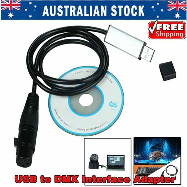 Satge Light Controller Dimmer DMX512 USB to DMX Interface Adapter Computerpter!%
