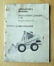 New Holland L 35 Skid Steer Loader Cessna Hydraulics Operators Manual