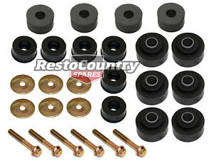 Holden-1-Ton-Tonner-Body-Mount-Kit-HQ-HJ-HX-HZ-WB-Bolts-Washers-rubber-bush