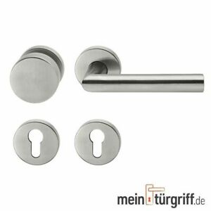 Türdrücker Türgriff Wechselgarnitur Türklinke Edelstahl matt L-Form 1400.76.WG