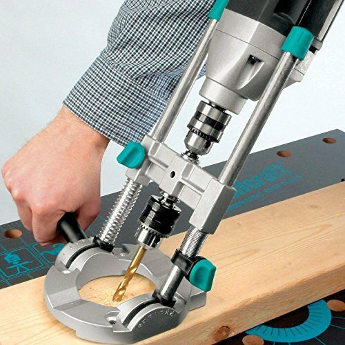 Wolfcraft Portable Drill Press Guide Attachment for 1//4-Inch or 3//8-Inch Drills