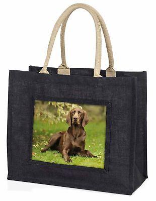 Deutsche Zeiger Hund große schwarze Einkaufstasche Weihnachten Geschenkidee,
