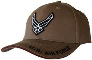 U-S-Air-Force-Wings-Hat-USAF-Coyote-Brown-Baseball-Cap