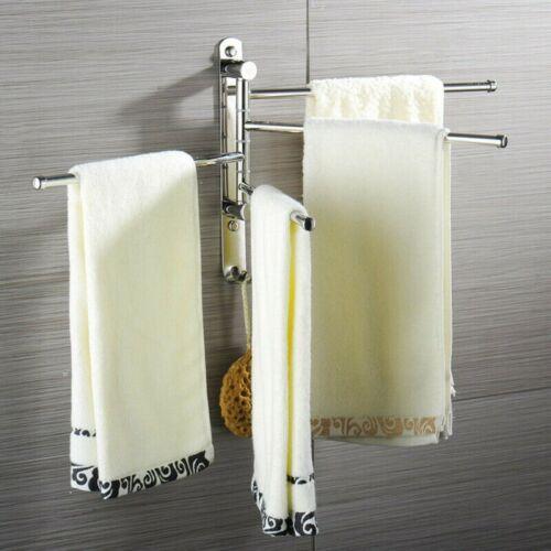 Handtuchhalter Schwenkbar 4-armig Wand Handtuchring Handtuchstange Bad Küche