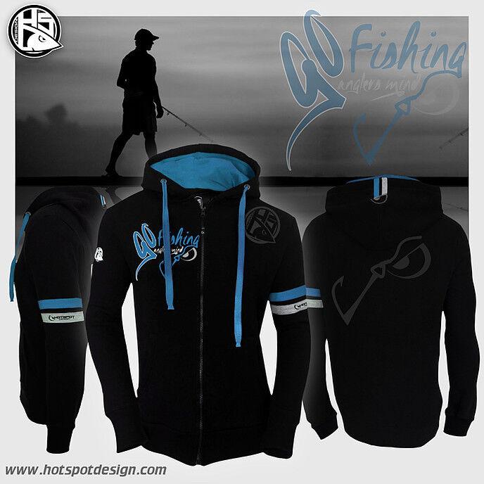 Hotspot Design Sweat GO fishing- Zipp-Sweater, Kapuzenpullover, Hoody      Hervorragende Eigenschaften  cbc205