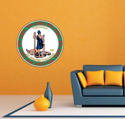 "Virginia State Seal USA Wall Room Garage Decor Sticker Decal 22/""X22/"""