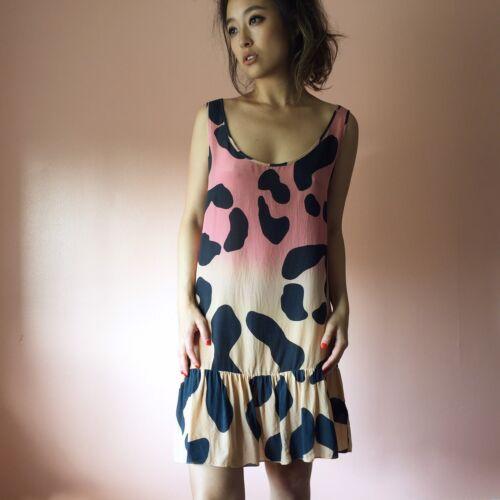 House Of Holland Runway Sunset Leopard Silk Dress