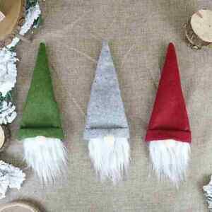 Christmas Dinner Table Decor Wine Bottle Cover Bag Santa Xmas Party Gonk Gnomes