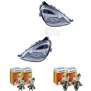Phares-Kit-Mercedes-Classe-A-W168-Annee-Fab-01-04-H4-H7-Incl-Philips-Lampes