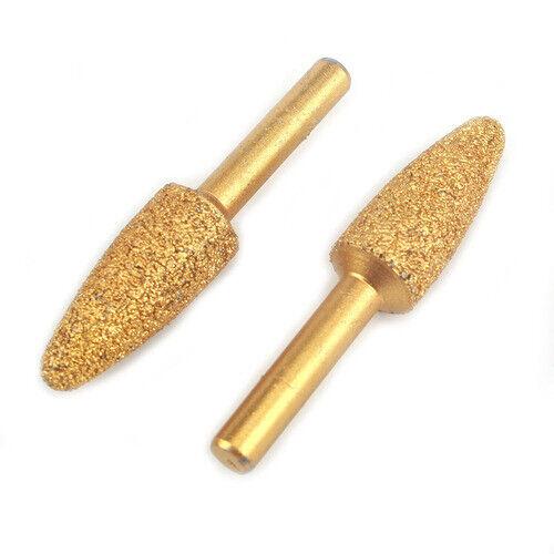 2Pcs 15mm Brazed Diamond Grinding Head For Rotary Tool Metal Polishing Shank 6mm