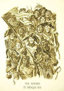 Napoléon Bonaparte Italie Discours Du 10 Avril 1796 Sc A Decaris 52cm 1952 31/33 à Tout Prix