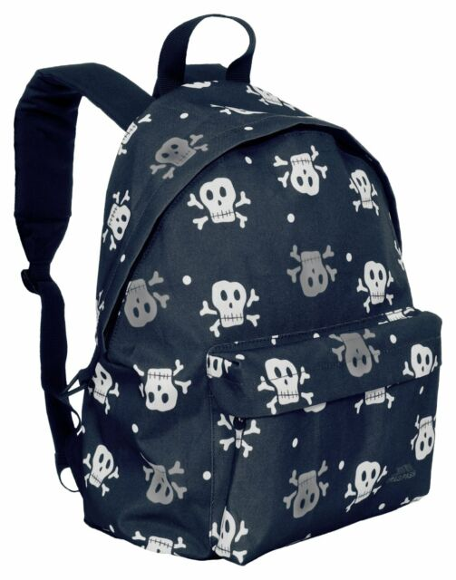 3b131b74df25 Trespass Black   Grey Skulls Boys Backpack Rucksack - Gym Bag - New 18lt