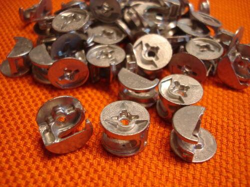 Exzenter Schrankverbinder Möbelverbinder 15x12 mm ohne Rand f.Fachböden ab 14 mm