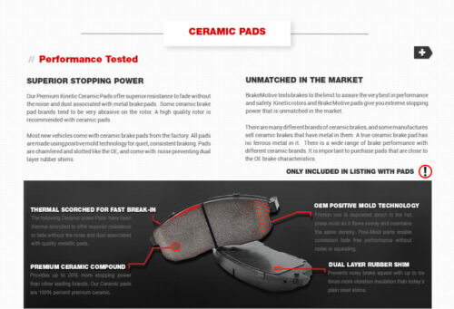 For Volvo S70 V70 V70 XC AWD Rear Drilled /& Slotted Brake Rotors /& Ceramic Pads