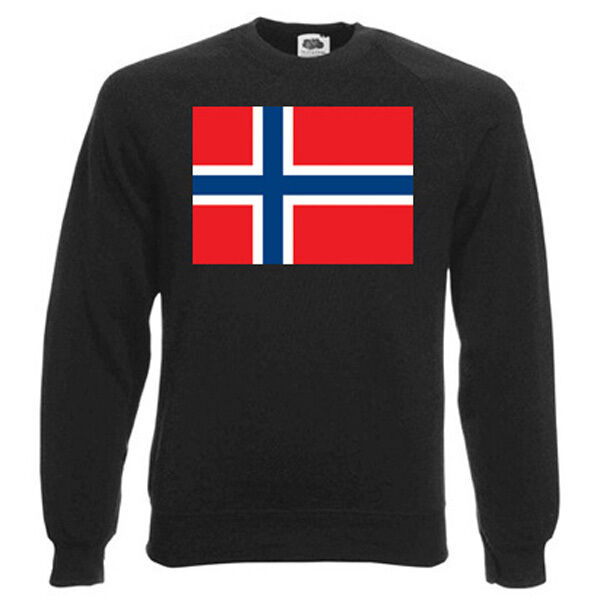 Norwegian Flag (NORWAY) Sweatshirt, FLAGS - Choice of size & colours.