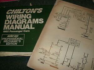 1985 Pontiac Parisienne Wiring Diagrams Schematics Manual Sheets Set Ebay